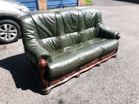 3 seat leather sofa in very good condition- can deliver