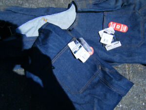 2 Pairs of Jean Work Coveralls Size 48 Tall
