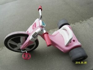 Tricycle big wheel  for girls  good condition.