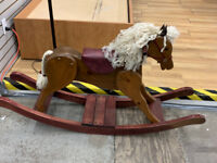 Wooden Rocking Horse at Waterloo Restore