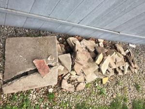 Free Broken Patio Stones / Cobbles