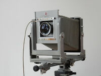 "Calumet 4"" x 5"" View Camera with Super Angulon wide angle lens"