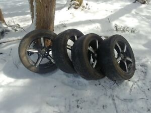 "VW- 17"" Fast 5 spoke rims with tires"