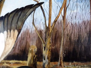 "Folk Art, Ducks Unlimited by Coleen Szura ""Solitary Liftoff"" Stratford Kitchener Area image 9"