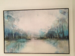 Beautiful painting with silver frame- Moving Sale