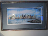 NYC SKYLINE by American NICHOLAS P. SANTOLERI,Ghost Twin Towers