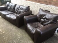 Leather sofa and chair delivery available