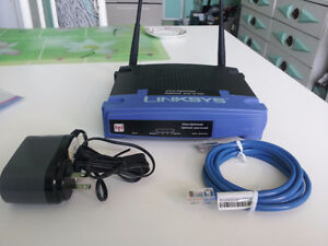 New Linksys wireless-G model  WRT54G Router with Adapter