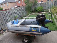 ZODIAC C285S INFLATABLE BOAT WITH A TRAILER