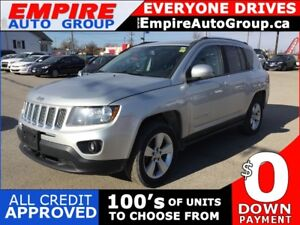 2014 JEEP COMPASS SPORT * AWD * ONE OWNER * LEATHER/CLOTH * LOW