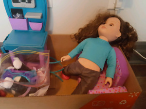 Veterinarian doll with accessories