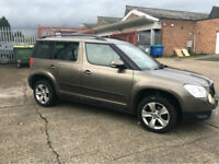 2012 61 SKODA YETI 1.6TDI SE GREENLINE II TURBO DIESEL,5 DOOR ONLY 53000 MILES