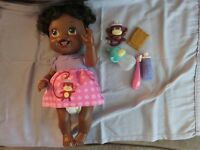 BABY ALIVE DOLL AND ACCESSORIES