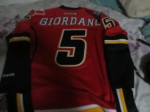 Autographed GIORDANO jersey-WITH signed GAME USED STICK!