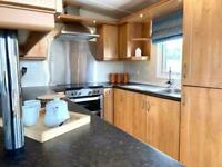 4 berth lodge for sale by the sea decking included contact Georgia on