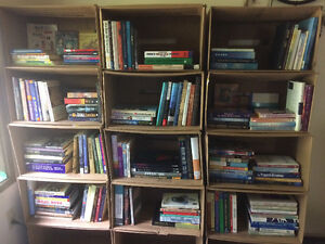 Over 150 books, all kinds!