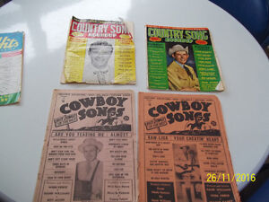 Vintage Cowboy/Country Song Books