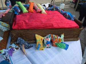 Beautiful Hand crafted Solid Wood Pet Beds!