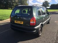 VERY GOOD CONDITION ZAFIRA 7 SEATER MOT TILL SEP 2017 FOR QUICK SALE £599