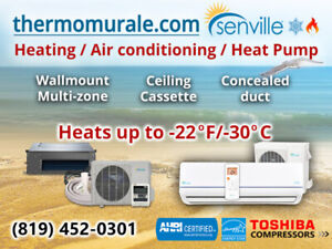 Thermopompe/Eco-Friendly/Best product/Air cond/Senville