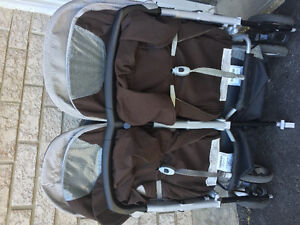 Peg Perego Aria Twin 60/40 double light weight stroller