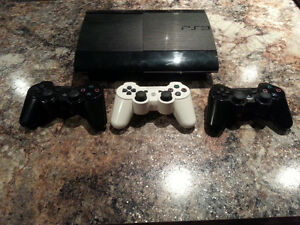 PS3 console, games and controllers