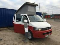 Volkswagen Transporter 2013 2.0TDi T5 Campervan £28,750 inc Vat WHITE/OVER RED