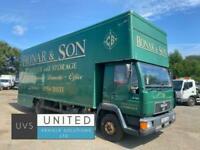 MAN L 2000 8.163 1999 T reg 7.5 ton removal dropwell Luton truck manual 1 owner