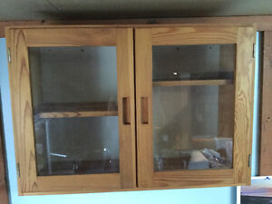 For sale - IKEA pine wall cabinet plus pine mirror