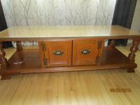 Ensemble de tables de salon antique en bois massif