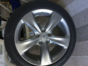 Brand new Acura rims and winter tires Bridgestone blizzaks