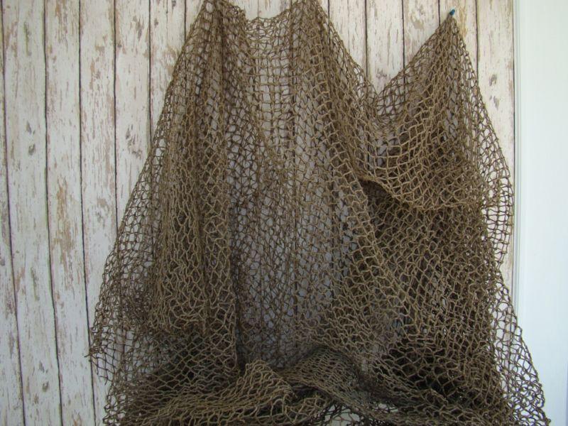 Authentic Used Fishing Net ~ Old Vintage Fish Netting ~ Nautical Maritime Decor