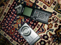 Tascam Recorder and Sony camera
