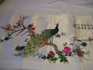 Chinese Hand- Embroidered Silk Art