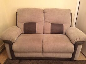 DFS 2 seater & 4 seater settees in grey with alcantara
