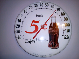 Mid century, advertising thermometer