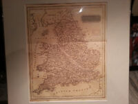 Antique Map of England & Wales Circa 1819 - Thomas Kelly $25