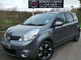 2012 (62) NISSAN NOTE 1.4 N-TEC PLUS 5DR - 2 OWNERS - VERY LOW MILES - FULL S/H