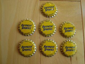 Formosa Springs Water Bottling Caps- Never Used - Lot of 60