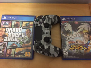 Controller and Grand theft auto: five and naruto storm 4 Kitchener / Waterloo Kitchener Area image 1