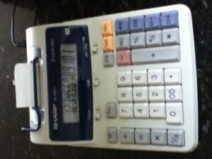 Sharp Desktop Printing Calculator 12 Digit 2 Color Home Office