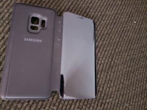Samsung Galaxy S9 Clear View Cover, Black (EF-ZG960CB