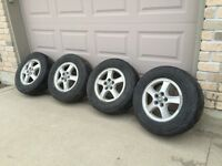 """16"""" rims with 225/70R16 Tires"""