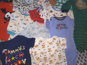 Assorted baby boys clothes
