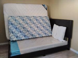 Queen Size Bed-Complete (550$) & Single Bed Foam Mattress (60$)