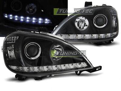 Scheinwerfer LED Tagfahrlicht Optik Mercedes W163 ML M-KLASSE Schwarz DE LPMEA0-