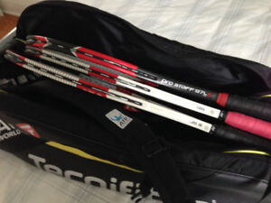 Tennis Racquets and Bag