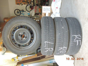 15 INCH WINTER TIRES WITH RIMS
