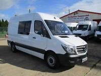 2015 reg MERCEDES BENZ SPRINTER 313 MWB, CREW, MESS UNIT, WELFARE TOILET VAN 27k