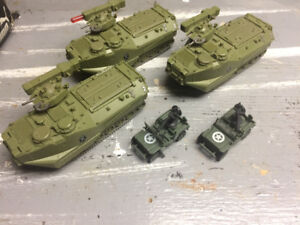 Army tanks and jeeps toy vehicles